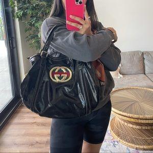 Gucci Dialux Britt Tote Bag With Crossbody Strap